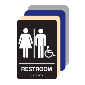 Picture of Unisex Accessible ADA Restroom Sign