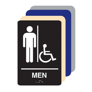 Picture of MEN'S  Accessible ADA Restroom Sign