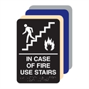 Picture of In Case Of Fire Use Stairs ADA Sign